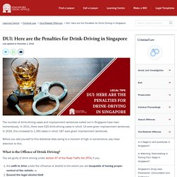 DUI: Here are the Penalties for Drink-Driving in Singapore