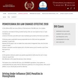 PennsylvaniaDUI Penalties PA