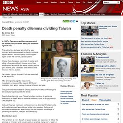 Death penalty dilemma dividing Taiwan