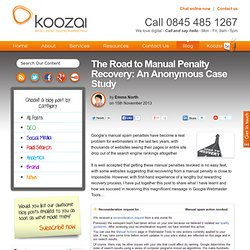 The Road to Manual Penalty Recovery: An Anonymous Case Study