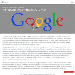 Google Penalty Recovery Service Company in India