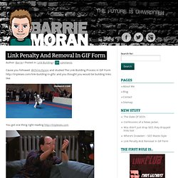 Link Penalty And Removal In GIF Form » Barrie Moran SEO