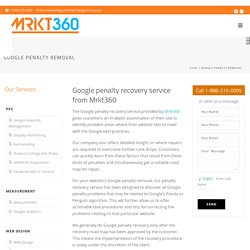 Google Penalty Removal Service by Mrkt360 Inc.