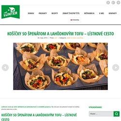 Košíčky so špenátom a lahôdkovým tofu - lístkové cesto - Lunter.com