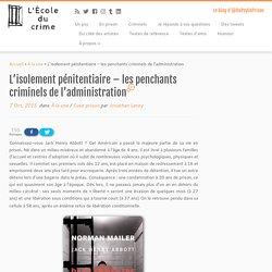 Les penchants criminels de l'administration