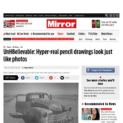 Hyper-real pencil drawings look just like photos - Mirror Online