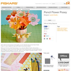 Pencil Flower Posey / For the Home