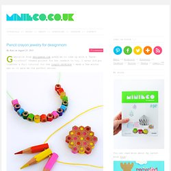 Pencil crayon jewelry for designmom