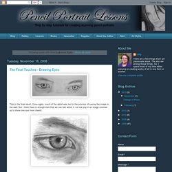 Pencil Portrait Lessons