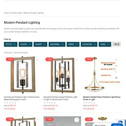 Modern Pendant Lighting with Cutting Edge Designs