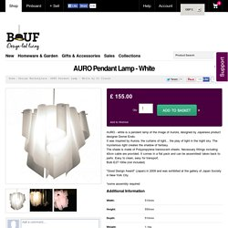 AURO Pendant Lamp - White from Di Classe
