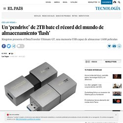 CES 2017: Un 'pendrive' de 2TB bate el récord del mundo de almacenamiento 'flash'
