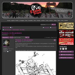 Pendulum, le vélo pendulaire - custombrigade.com