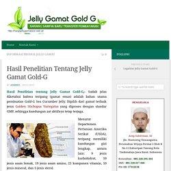 Hasil Penelitian Tentang Jelly Gamat Gold-G