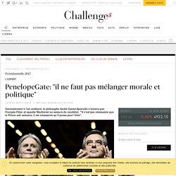 """PenelopeGate: """"il ne faut pas mélanger morale et politique"""" - Challenges.fr"""