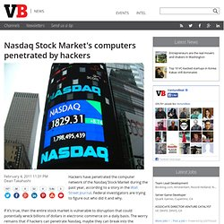 Nasdaq Stock Market's computers penetrated by hackers | VentureBeat