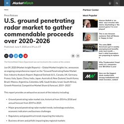 U.S. ground penetrating radar market to gather commendable proceeds over 2020-2026