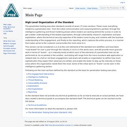 Main Page - The Penetration Testing Execution Standard