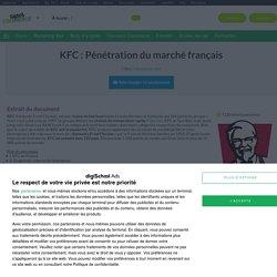 KFC : Pénétration du marché français, Exposé à télécharger gratuitement