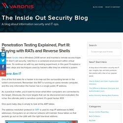 Penetration Testing Explained, Part III: Playing with RATs and Reverse Shells