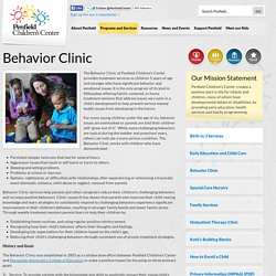 Penfield Children's Center » Behavior Clinic