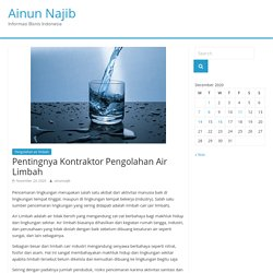 Pengolahan Air Limbah untuk menghindari pencemaran lingkungan