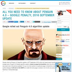 "Manual Backlink Audit is preferred over Online Tools in the Google Penalty 2016 recovery – ""Penguin 4.0 algorithm"""