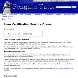 PenguinTutor Linux LPI practice exams