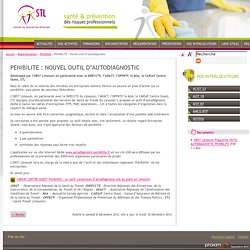 Santé Travail en Limousin, PENIBILITE: NOUVEL OUTIL D'AUTODIAGNOSTIC
