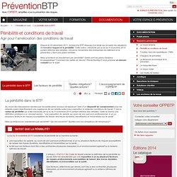 La pénibilité dans le BTP / Prévention de la pénibilité / Dossiers prévention