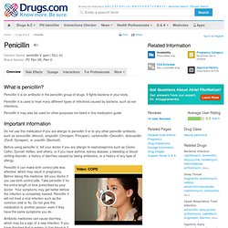 Penicillin Information from Drugs