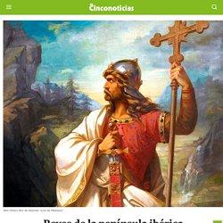Reyes de la península ibérica. Don Pelayo y Gaudiosa