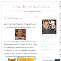 The Penis Game « Views from the Couch