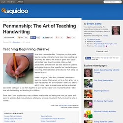 Penmanship: The Art of Teaching Handwriting