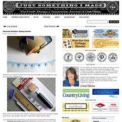 Pennant Rubber Stamp Roller