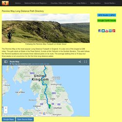 Pennine Way (including map, GPS files and statistics)