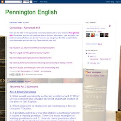 Blog - Pennington English