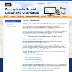 Model Curriculum » Pennsylvania School Librarians Association