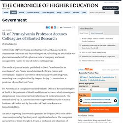 Prof Accuses Colleagues of Slanted Research