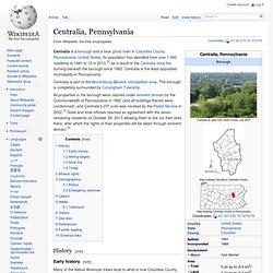 Centralia, Pennsylvania