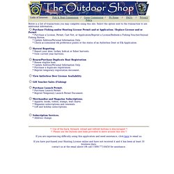 Outdoor Shop On-Line License Sales