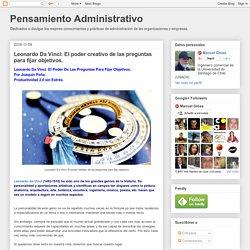 Pensamiento Administrativo: Leonardo Da Vinci: El poder creativo de las preguntas para fijar objetivos.