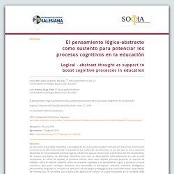 El pensamiento lógico-abstracto como sustento para potenciar los procesos cognitivos en la educación