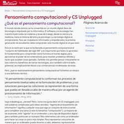 Pensamiento computacional y CS Unplugged - CS Unplugged