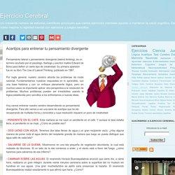 Ejercicio Cerebral: Acertijos para entrenar tu pensamiento divergente