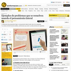 Ejemplos de problemas que se resuelven usando el pensamiento lateral – Matemáticas – Noticias, última hora, vídeos y fotos de Matemáticas en lainformacion.com