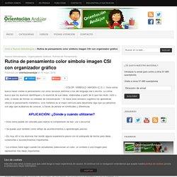 Rutina de pensamiento color símbolo imagen CSI con organizador gráfico -Orientacion Andujar