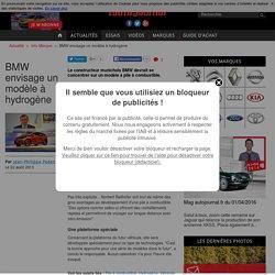 BMW PENSE A UN VEHICULE A PILE A COMBUSTIBLE