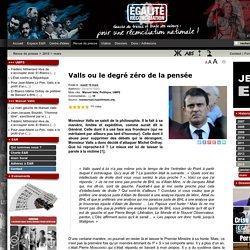 Valls ou le degré zéro de la pensée