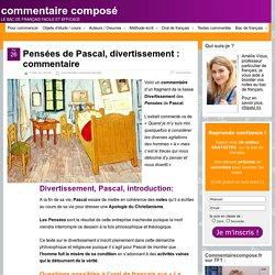 Les Pensées de Pascal, divertissement : analyse